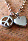 Peace and Love Charm Necklace